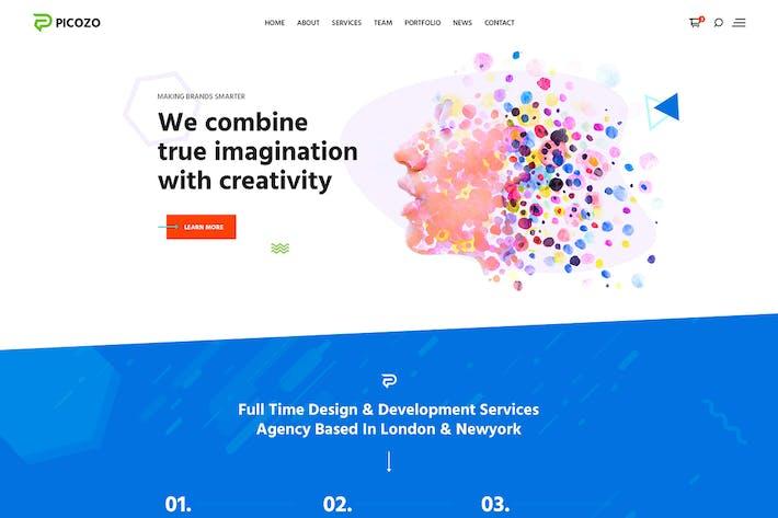 Thumbnail for Picozo - Creative Agency PSD