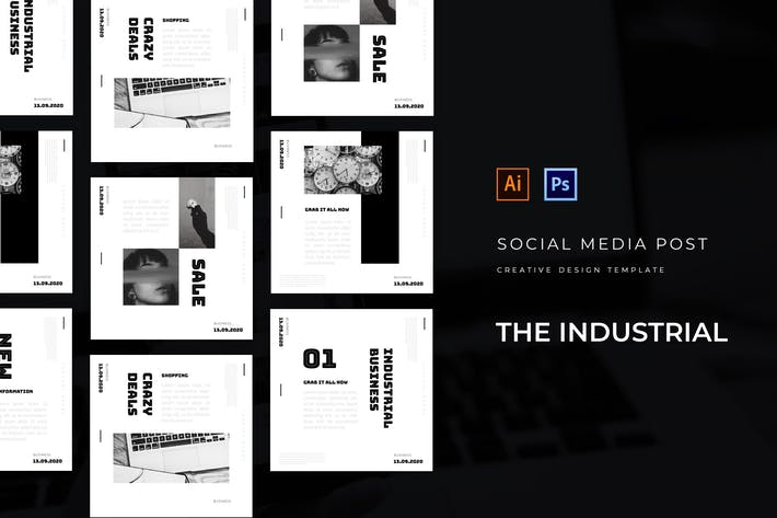 Thumbnail for Minimalist Industrial Socmed Post