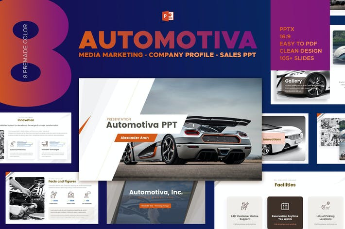 Thumbnail for Automotiva - Automotive Media Marketing Powerpoint