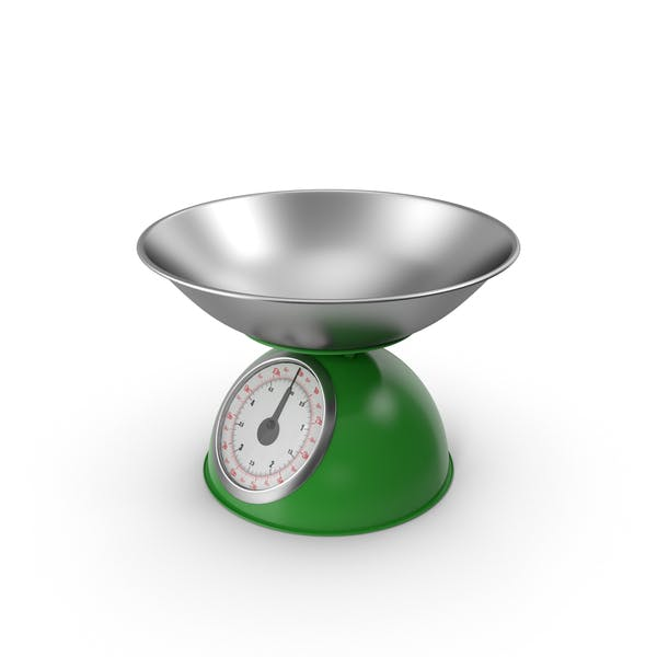 Retro Mechanical Kitchen Scale Green
