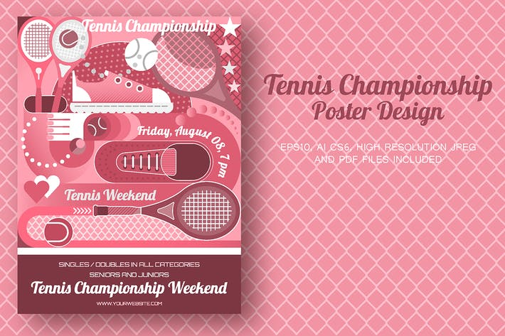 Thumbnail for Tennis Championship Poster design
