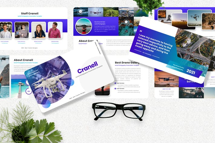 Thumbnail for Cranell - Aerial Photography Googleslide Template