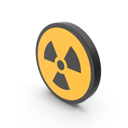 Señal de peligro de radiación