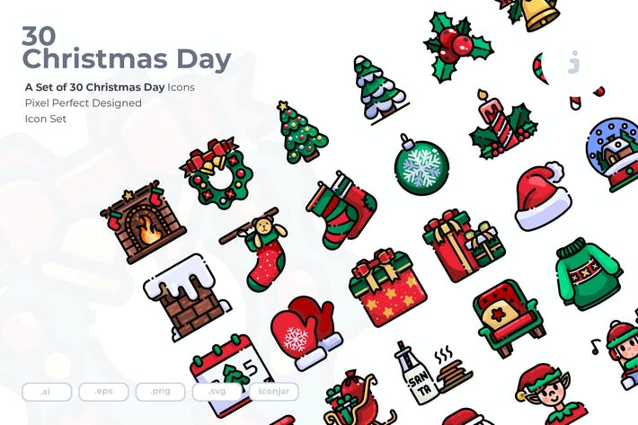 30 Christmas Day Icons
