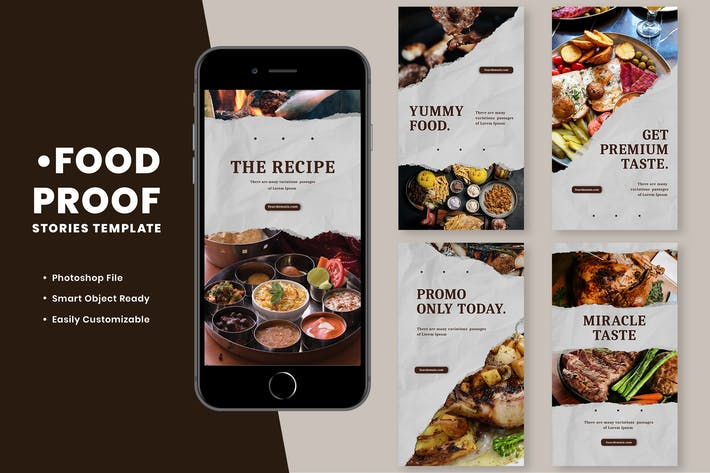 Thumbnail for Food Proof Instagram Stories Template