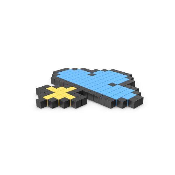 Пиксельный значок грозы