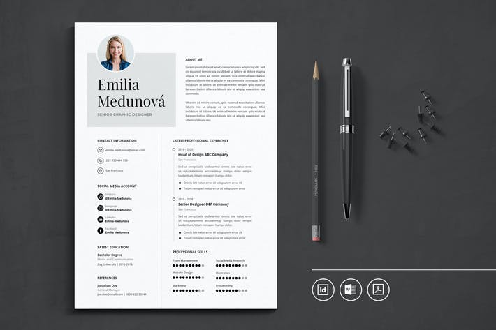 Thumbnail for Professional CV Resume Indesign Template Vol.44