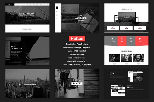 Hattan - Creative Onepage Multipurpose Template