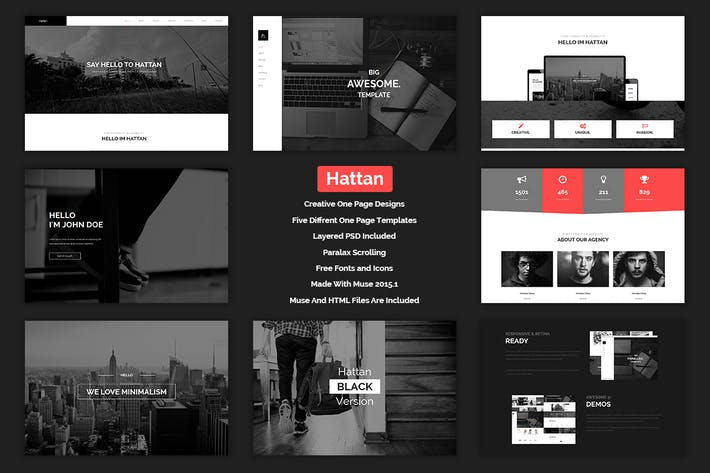 Thumbnail for Hattan - Creative Onepage Multipurpose Template