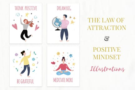 Law of Attraction Illustrations