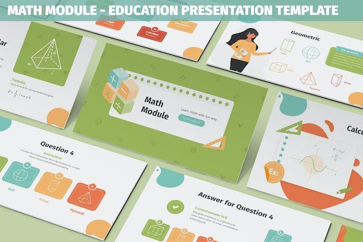 Math Module - Education Powerpoint Template