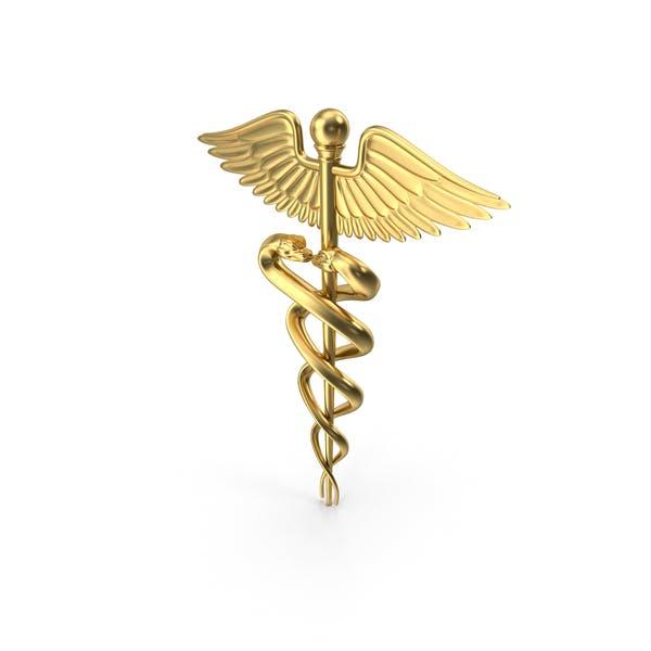 Thumbnail for Golden Caduceus Symbol