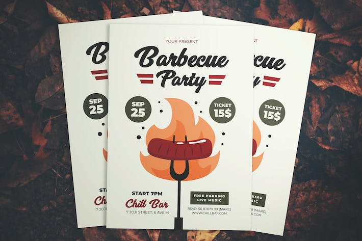 Thumbnail for Barbecue Party Flyer