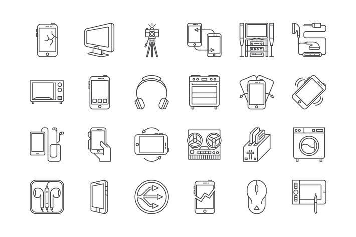 Thumbnail for 32 Electronics Icons