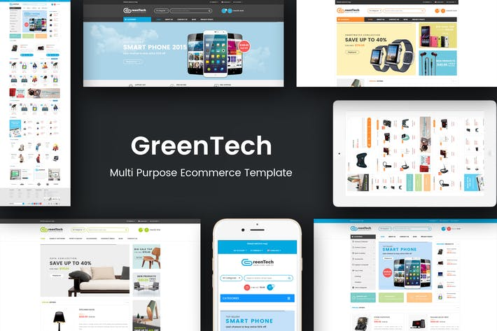 Thumbnail for GreenTech - Shopping Responsive Opencart Theme