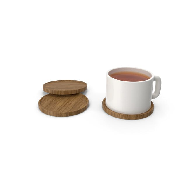 Beverage Coasters with Cup Tea