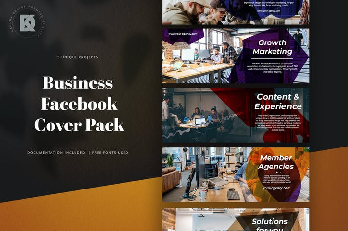 Thumbnail for Business Facebook Cover Pack