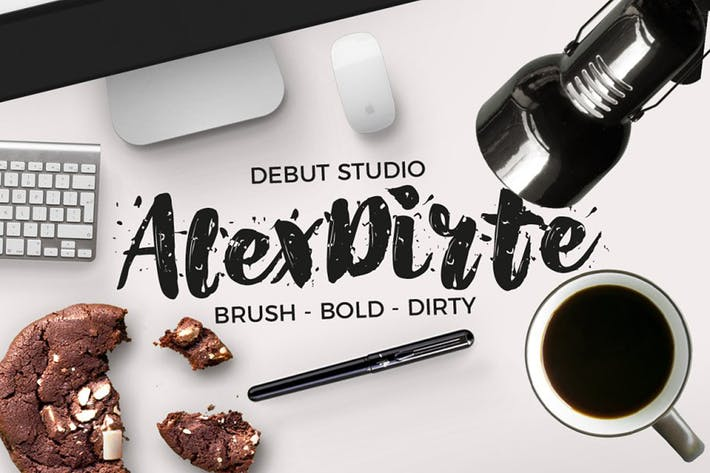 Thumbnail for Alexdirte Brush Font