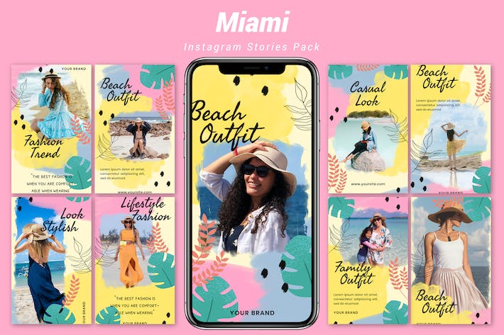 Thumbnail for Miami - Instagram Template Pack