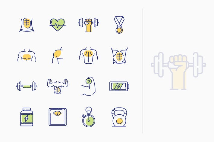 Thumbnail for Healthy Lifestyle - Workout Icons - Outline Series