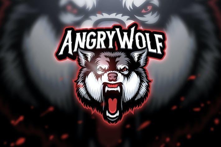 Thumbnail for Angry wolf - Mascot & Esport Logo