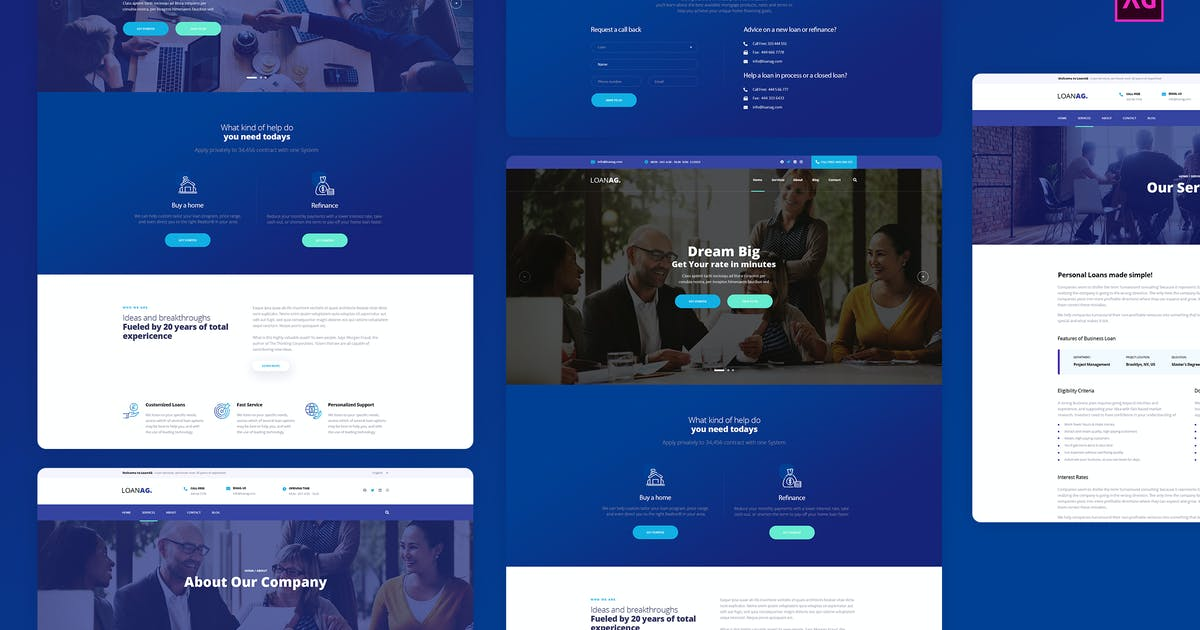 Banking Loan For Adobe Xd Template By Moontheme On Envato Elements