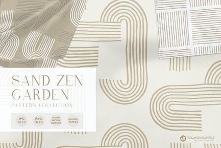 Sand Zen Garden - Seamless Patterns