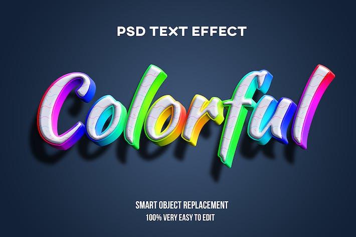 3D красочный текстовый эффект