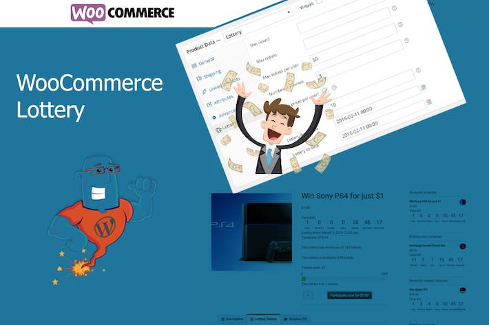 Thumbnail for WooCommerce Lottery - WordPress Competitions