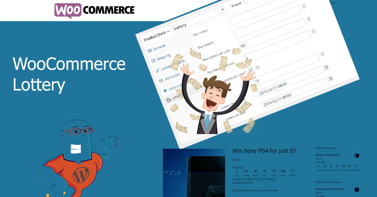 Download WooCommerce Lottery - WordPress Competitions by wpgenie