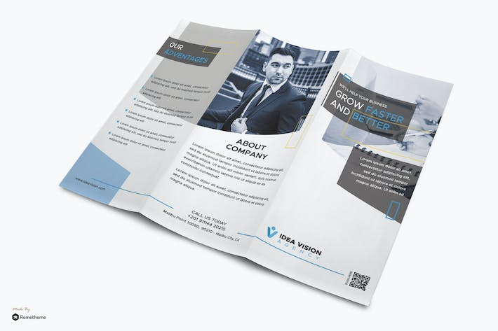 Thumbnail for Vision - Corporate Business Trifold Brochure RY