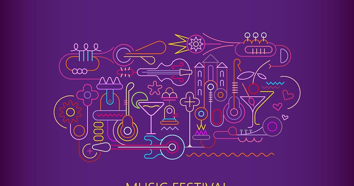 Download Music & Cocktails vector artwork by danjazzia