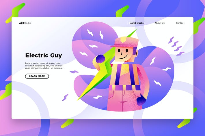 Thumbnail for Electrician - Banner & Landing Page