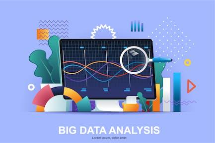 Data Analysis Flat Concept Vector Illustration