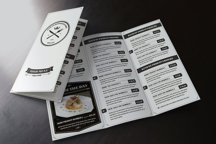 Thumbnail for Elegant Food Menu 6 Illustrator Template