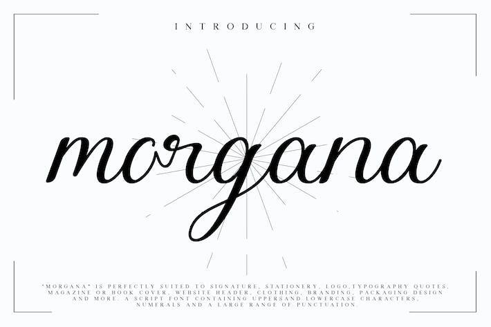Thumbnail for Morgana - Fuente de escritura de firma