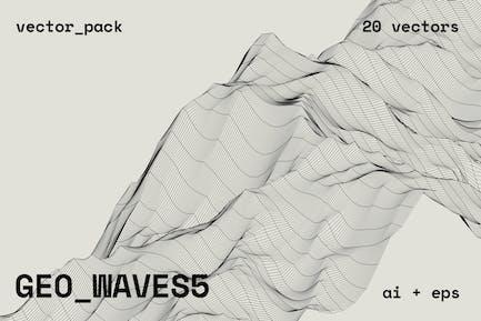 GEO_WAVES5 Vector Pack