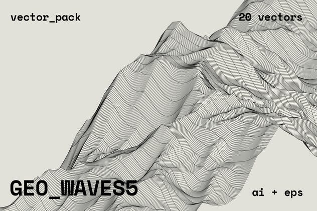 GEO_WAVES5 Vector Pack - product preview 15