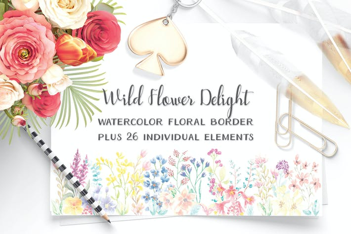 Thumbnail for Wildflower Delight: Border Plus Elements