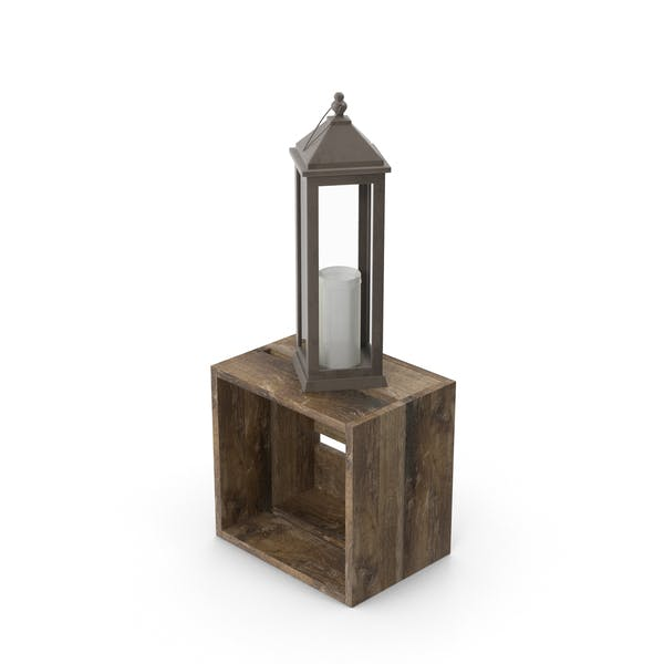 Thumbnail for Lantern on Wooden Crate