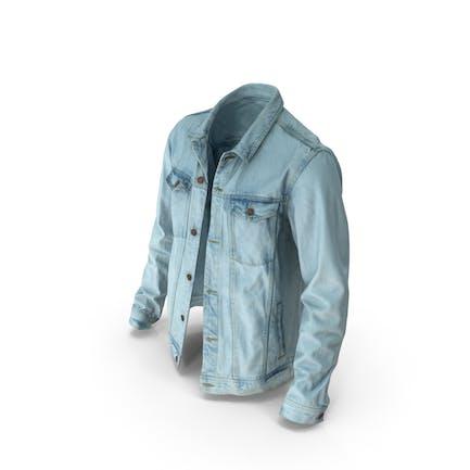 Jeansjacke für Herren Hellblau
