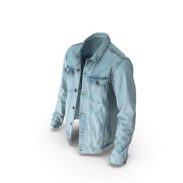Mens Jean Jacket Light Blue