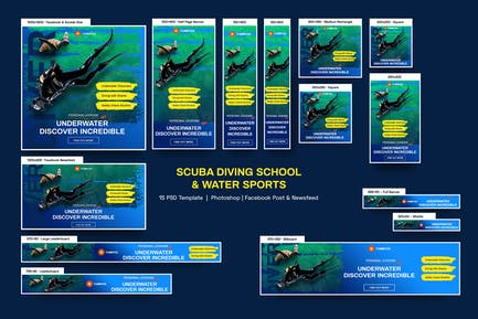 Scuba Diving School Banners Ad