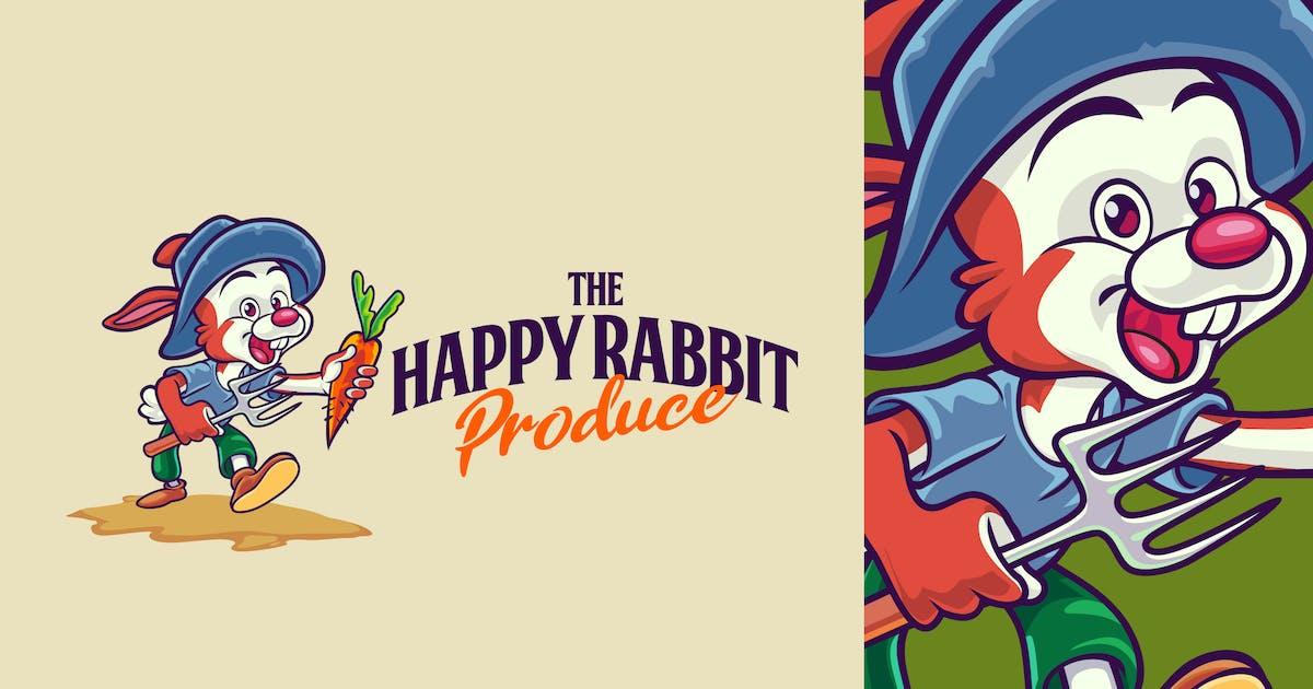 Download Cartoon Farmer Rabbit Character Mascot Logo by Suhandi