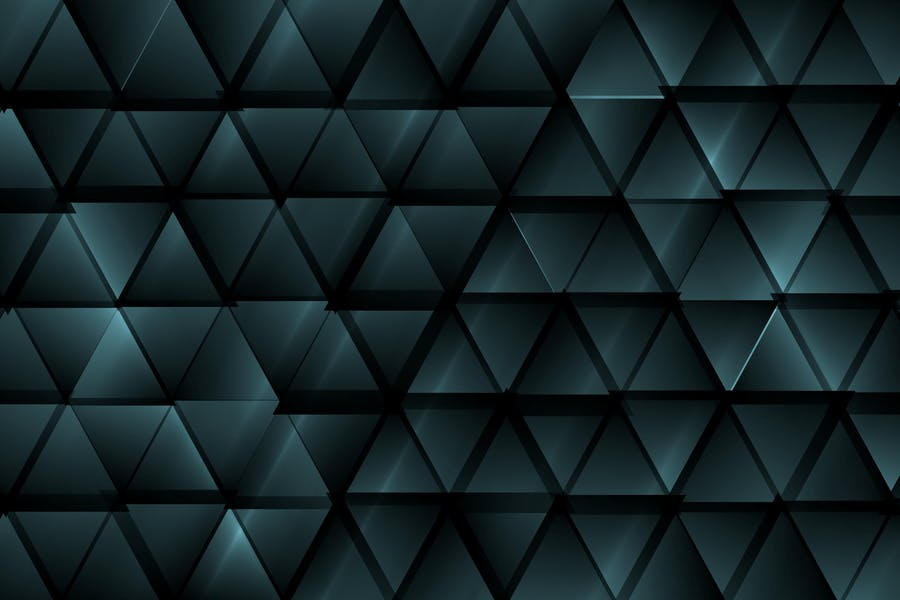 Dark blue abstract tech triangles background