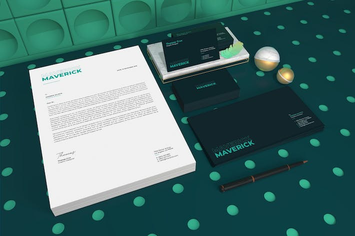 Thumbnail for Maverick - Creative Agency Corporate Identity