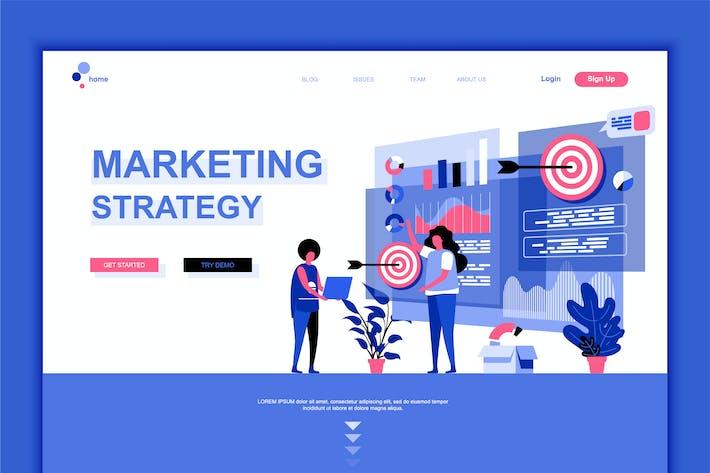 Thumbnail for Digital Marketing Flat Landing Page Template
