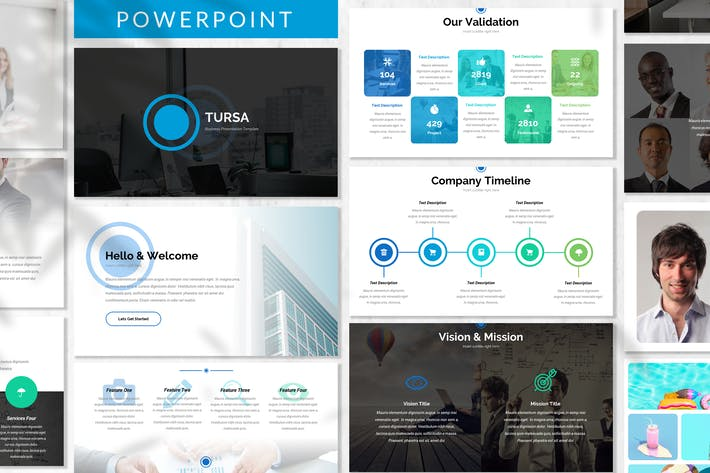 Thumbnail for Tursa - Business Powerpoint Template