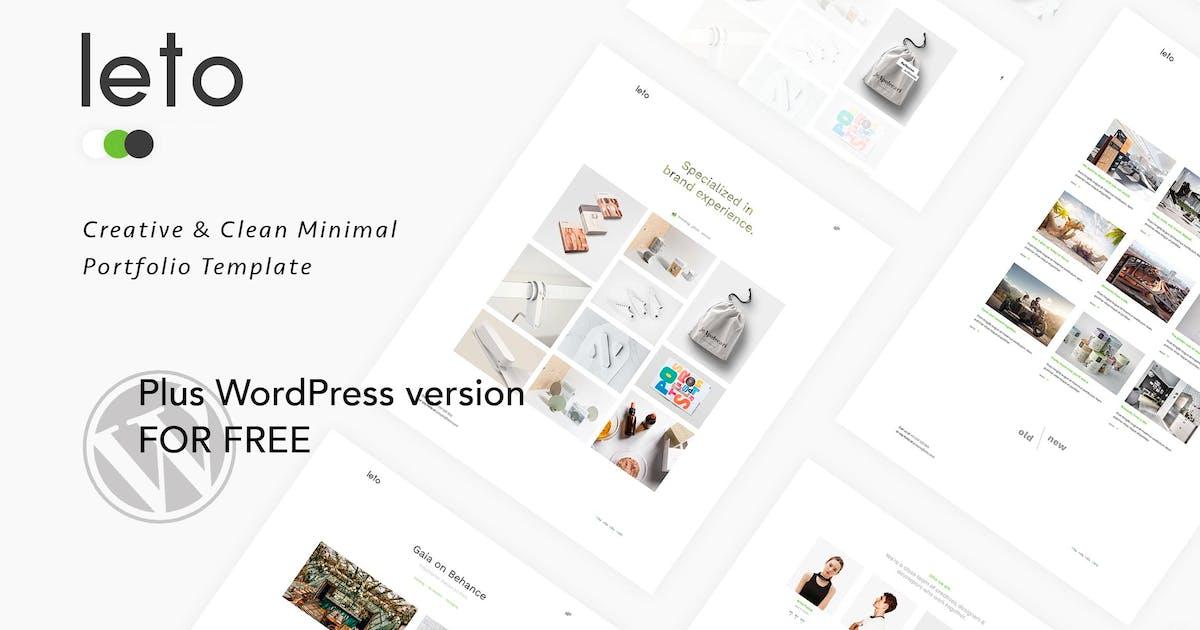 Download Leto - Creative Minimal  Portfolio Template by IG_design