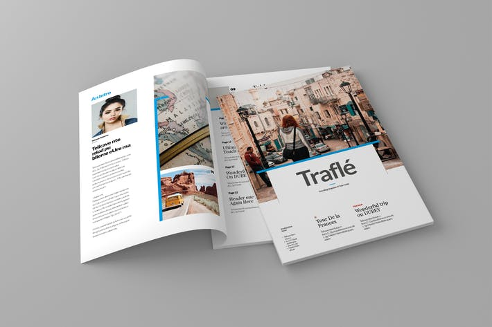 Thumbnail for Trafle - Magazine Template